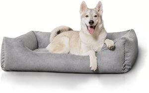 Hundebett groß Knuffelwuff 12630 Hundebett Dreamline, Größe XXL 120 x 85cm, grau - 1